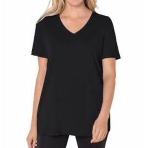 Woman Within Plus Size Perfect Short Sleeve Tee 2X